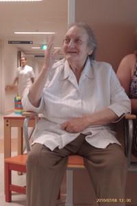 zwaaien in het ziekenhuis